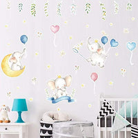 Bamsod Kid Wall Stickers Elephant Wall Decals Art Baby Bedroom Nursery Home Decor 15''x31.5''