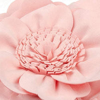 JWH 3D Peony Flower Accent Pillow Handmade Cushion Decorative Pillowcase with Pillow Insert Solid Suede Sham Home Bed Living Room Decor Girl Gift 14 Inch Pink