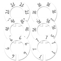 "6 Baby Nursery Clothing Closet Size Dividers White Unisex Fits 1.5"" Rod (Ranged Months)"