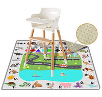 "54"" Large ReignDrop Splat Mat for High Chair, Play Mat, Picnic, Art and Crafts for Baby, Kids, Non Slip, Waterproof, Washable, Portable, Durable, Reusable Splash, Spill Mat for Pet Litter (Lattice)"