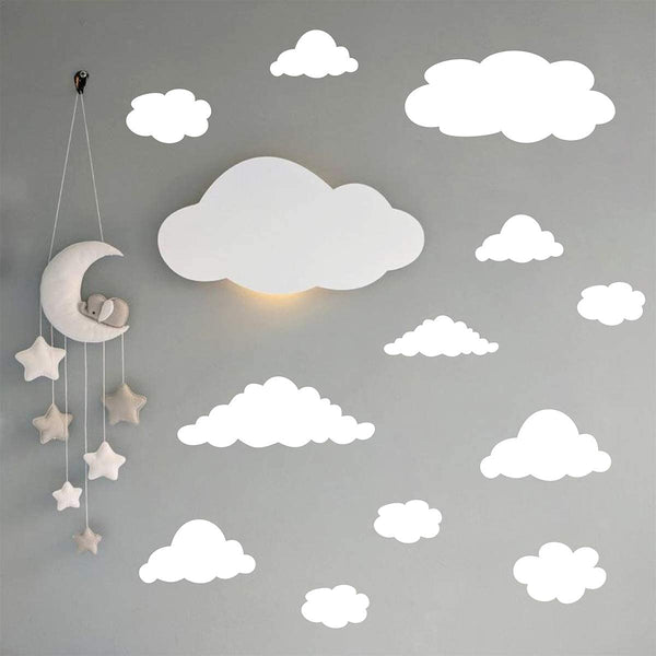 Easu Clouds Wall Decal Wall Stickers Peel and Stick Removable Wall Stickers Kids Room Decals Nursery Decor