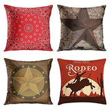 Emvency Set of 4 Throw Pillow Covers Beach Starfish Words Rules Holiday Summer Nautical Anchor Distressed Taupe Decorative Pillow Cases Home Decor Square 18x18 Inches Pillowcases