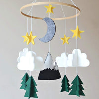 Baby Crib Mobile by Sorrel & Fern- Starry Woodland Night Nursery Decoration | Crib Mobile for Boys and Girls