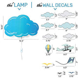 SMART WALLABY LED Wall Lamp Nightlights for Children and Decal Set – Nighty Night Light for Kids Room Decor with with Plug in Cord and Wall Stickers – Nursery Decoration, Cloud Theme