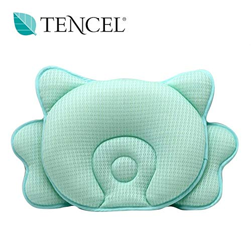 COALA HOLA Baby Head Shaping Pillow for Sleeping, Breathable 3D Air Mesh Infant Pillow for Flat Head Syndrome Prevention, Head & Neck Support for Newborn