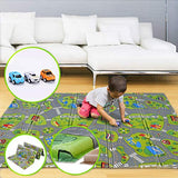 "Foldable Play Mat |【Easy to Clean, Fold Up】Non- BPA Non-Toxic Foam Baby Playmat 79"" x 70""x 0.6"" Thick Extra Large Reversible Crawling Mat Portable Toddlers Kids (Cute Giraff)"