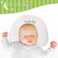 OCCObaby Baby Head Shaping Memory Foam Pillow | Cotton Cover & Bamboo Pillowcase | Keep Your Baby's Head Round | Prevent Flat Head Syndrome in Infant & Newborns