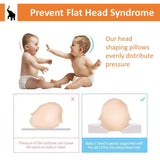 Hillside Newborn Baby Pillow | Head Shaping Pillow for Preventing Flat Head Syndrome - Plagiocephaly in Infants (Pink & Robin Egg Blue)
