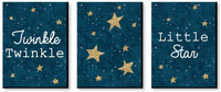 Big Dot of Happiness Twinkle Twinkle Little Star - Baby Boy Nursery Wall Art and Kids Room Decorations - Gift Ideas - 7.5 x 10 inches - Set of 3 Prints