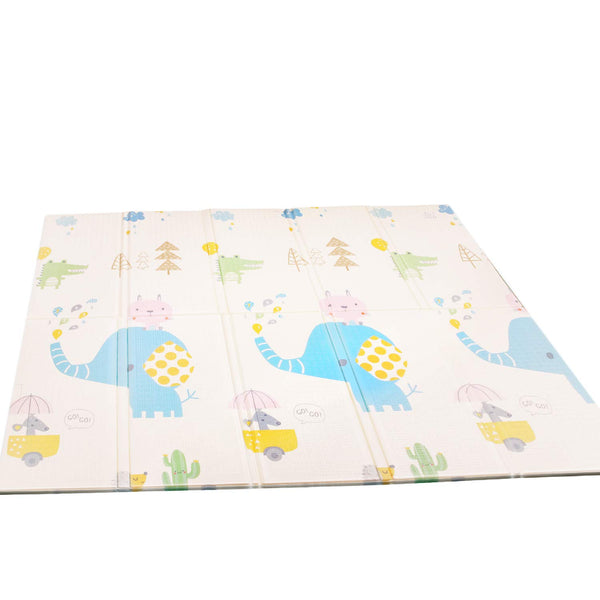 Firares Thick Foam Reversible Baby Play Mat, Extra Large BPA Free Kids Crawling mat, Waterproof Foldable Floor Baby Crawling Mat Foam for Infants, Toddlers Use, Elephant, Giraffe Jungle Animals