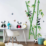 decalmile Panda Branch Wall Stickers Butterfly Animals Wall Decals Kids Bedroom Baby Nursery Wall Decor