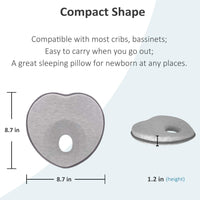 MALOMME Baby Pillow, Infant Pillow Soft Baby Head Shaping Pillow for Sleeping 3D Memory Foam Newborn Sleeping Pillow Protection for Flat Head Syndrome