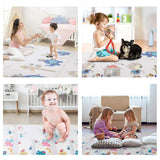POTBY Foldable Baby Play Mat, 79''x71'' Reversible Non-Toxic XPE Foam Baby Care Waterproof Portable Crawling Mat for Kid's Infants Toddler Exercise Indoor and Outdoor (Tree House)