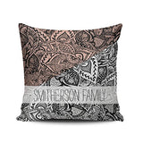 Fanaing Bedroom Custom Decor Modern Marble Rose Gold Navy Blue Pillowcase Soft Zippered White Gray Throw Pillow Cover Cushion Case Fashion Design One-Side Printed Boudoir 12x16 Inches