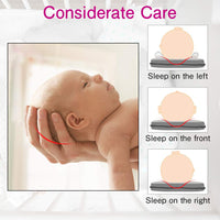 RUNACC Baby Head Shaping Pillow, Memory Foam Infant Sleeping Pillow, Head Support Cushion for Preventing Flat, Sharp Head with Washable Cotton Pillow Cover
