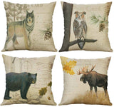 "SLS Cotton Linen Decorative Throw Pillow Case Cushion Cover Lion Piillow case 18""X18 Fox (5)"