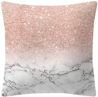 "Wotryit Christmas Pillow Case, Snowflatk with Xmas Tree Throw Pillow Case Santa Claus Bell Snowman Winter Decorative Cushion Covers Cotton Linen 18x18 Inch Holiday Sofa Home Decor (18""x18"", Pink) (A)"