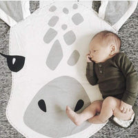 GABWE Round Giraffe Rug Carpet Cotton for Kids Floor Play mats Kids Room Decoration 35.4 inches