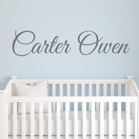 "Boys Nursery Personalized Custom Name Vinyl Wall Art Decal Sticker 36"" W, Boy Name Decal, Boys Name, Nursery Name, Boys Name Decor Wall Decals, Boy's Bedroom Decor, Plus Free 12"" Hello Door Decal"