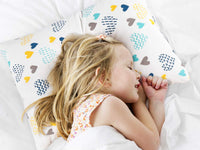 Kids Toddler Pillowcases-2 Pack Pillow Cover for Boys Girls Kids Bedding,Heart Pattern