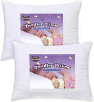 Utopia Bedding 2 Pack Toddler Pillow - Baby Pillows for Sleeping - 100% Cotton Cover - Pack of 2 Kids Pillows - White - 13 x 18 Inches