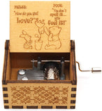 ukebobo Wooden Music Box - The Pooh Saying Music Box, Gift for Friend,Merry Christmas Music Box, New Year's Gifts, 1 Set