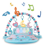 Baby Gym Toys & Activity Play Mat, Kick and Play Piano Gym Center with Music and Lights, Electronic Learning Toys for Infants, Toddlers, Newborn, Girls and Boys Ages 1 to 36 Months