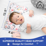 jayChet Flat Head Baby Pillow Gentle & Effective Baby Head Shaping Pillow - Soft Supporting Pillow for Newborns - Prevent Flat Head Syndrome - Breathable Baby Pillows for Sleeping