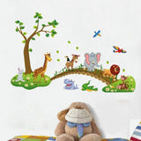 7ProductGroup Alphabet Animals ABC Wall Decals Peel and Stick Easily Removable for Daycare School Kids Room Decoration Decals for Baby Boys Girls Nursery Bedroom Educational Wall Art (Tree Large)