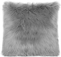 OJIA Faux Fur Throw Pillow Cover Cushion Case Super Soft Plush Accent Pillows Case Decorative New Luxury Series Style (20 x 20 Inch, Thick Grey)