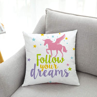 "Ku-dayi Pastel Inspirational Quotes Saying Throw Pillows Cushion Cover for Sofa Couch Decor, Nursery Decor, Girls Room Decor, 18""x 18""Inch"