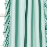 "Lush Decor Reyna Light Blue Window Panel Curtain Set for Living, Dining Room, Bedroom (Pair), 84"" x 54"""