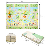 Baby Play Mat Extra Large Baby Mat Folding Foam Playmat Kids Crawling Mat Reversible Non Toxic Waterproof for Infants Toddlers Thicker 0.6inch (Green)