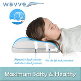 wavve Memory Foam Toddler Kids Baby Pillow with Pillowcase Cover Cool Gel Pad