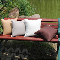 Waterproof Decorative Throw Pillow Covers Outdoor Pillowcases Cushion Cases for Tent Park Couch Garden Chair 18X18 Inch Chocolate 2Pcs