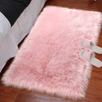 LOCHAS Ultra Soft Fluffy Rugs Faux Fur Sheepskin Area Rug for Bedroom Bedside Living Room Carpet Nursery Washable Floor Mat, 3x5 Feet Pink