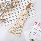 Wood Beads Garland with Tassels Beads Farmhouse Rustic Natural Wooden Bead String Wall Hanging for Baby Nursery Room Decor,Wedding Vase Ornament Shower Gift(Beige