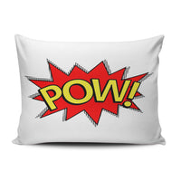 SALLEING Custom Beauty Design Red Yellow Pow! Superhero Comic Book Decorative Pillowcase Pillowslip Throw Pillow Case Cover Zippered One Side Printed 12x16 Inches