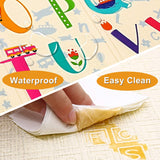 Baby Play Mat Extra Large Baby Mat Folding Foam Playmat Kids Crawling Mat Reversible Non Toxic Waterproof for Infants Toddlers Thicker 0.6inch (Beige)