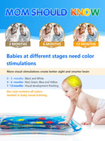 Tummy Time Water Play Mat, 7 Upgrade [2019 NEW] Inflatable Infant Baby Toys & Toddlers Fun Activity Play Center for Boy & Girl Growth Brain Development BPA-Free Baby Toys for 3-12 Months (60''x20'')