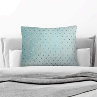 Decorative Throw Pillow With Gold Foil: Velvety-Soft Rectangular 20x30 Throw Cushion for Sofa, Couch, Bed, Chair & Nursery|100% Hypoallergenic Modern Décor Pillows In 6 Styles| Top Gift Idea (Teal)
