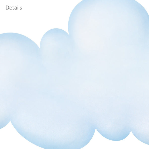 DECOWALL DW-1702 Clouds Kids Wall Decals Wall Stickers Peel and Stick Removable Wall Stickers for Kids Nursery Bedroom Living Room