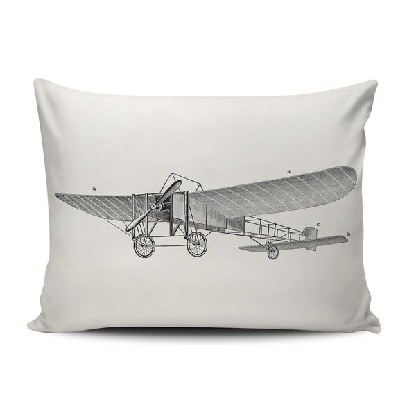 SALLEING Custom Fancy Plush Beige Vintage Propeller Airplane Retro Old Prop Plane Decorative Pillowcase Pillowslip Throw Pillow Case Cover Zippered One Side Printed 12x16 Inches