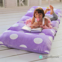 Butterfly Craze Girl's Floor Lounger Seats Cover and Pillow Cover Made of Super Soft, Luxurious Premium Plush Fabric - Perfect Reading and Watching TV Cushion - Great for SLEEPOVERS Slumber Parties