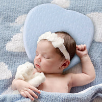 Baby Pillow for Prevention and Correction of Flat Head Syndrome- 2 Velvet Pillowcases,Prevent Plagiocephaly for Infants(Heart-shaped gift.)