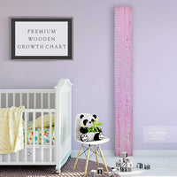 Back40Life Wooden Kids Growth Chart Ruler for Boys and Girls (Loved Beyond Measure) (Ebony Wash)