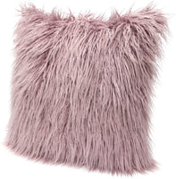 "ICOSY Fur Throw Pillow Case Cushion Cover for Sofa Bedroom, Mongolian Faux Fur Pillowcase Christmas Pillow Covers Decorative New Luxury Series Style 18"" x 18"""