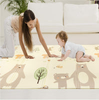 Baby Play Mat Baby Mat Folding Mat Playmat Crawling Mat Large Foam Mat Waterproof Non-Toxic Portable Foldable Play Mat for Infants Toddlers Reversible Floor Mat Baby Rug