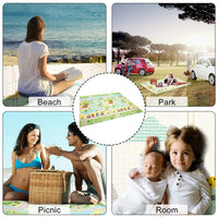 Foam Crawling Mat Baby Folding Play Mat Kids Reversible Extra Large Non Toxic Waterproof Infants Rug Toddler for Picnic Outdoor Playroom