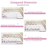 Baby Braided Crib Bumper Knotted Plush Protective Decorative Nursery Gift Pillow for Newborns Bed Sleep Bumper Safe forToddler/Newborn (2M, Pink White Gray)